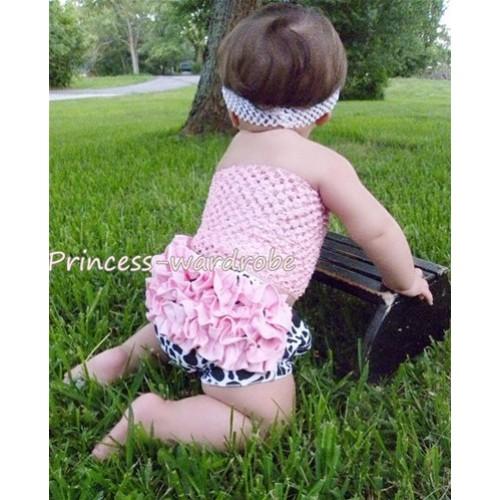 Light Pink Crochet Tube Top, Light Pink Milk Cow Bloomer CT27
