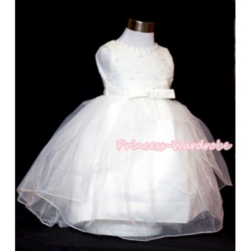 Pure White Pearl Wedding Party Dress PD008