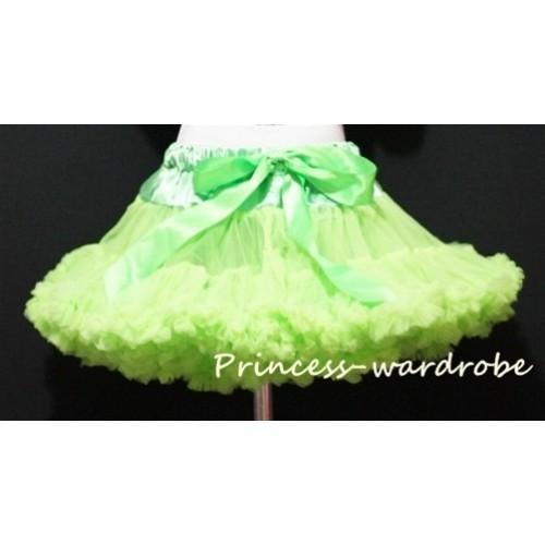Lime Green Teen Full Pettiskirt XXL AP16