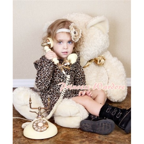 Leopard Print Long Sleeve Party Dress PD001