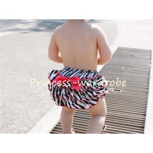 Hot Pink Zebra Print Panties Bloomers B25