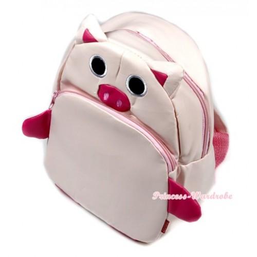 Light Pink Piglet Cute Kids Backpack Animal School Shoulder Bag CB87