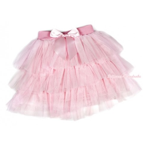 Light Pink Chiffon Tiered Layer Skirt Dress B198