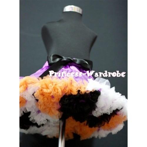 Rainbow Dark Purple Orange Black White Mix Pettiskirt P87