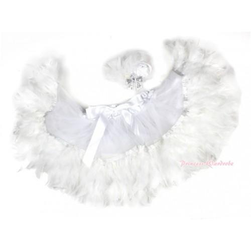 White Feather Posh Pettiskirt 2 PC Set N165