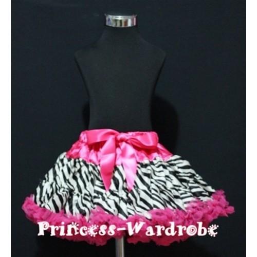 Hot Pink Zebra Print Teen Full Pettiskirt XXL AP07