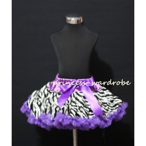 Dark Purple Zebra Print Teen Full Pettiskirt XXL AP08