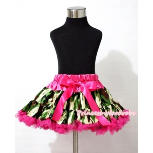 Hot Pink Camouflage Patterns Full Pettiskirt P138