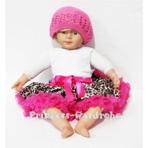 Hot Pink Leopard New Born Pettiskirt N51