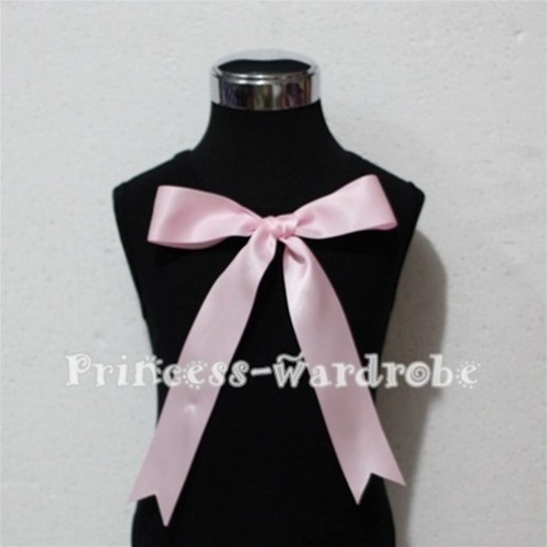 Black Pettitop with Cute Light Pink Big Bow TM120