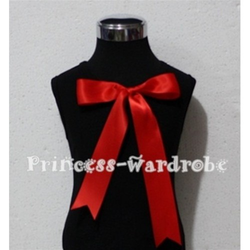 Black Pettitop with Cute Red Big Bow TM122