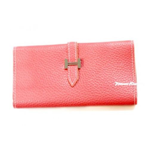 Light Pink Leather Adult Women Long Clutch Purse Zipper Wallet CB97