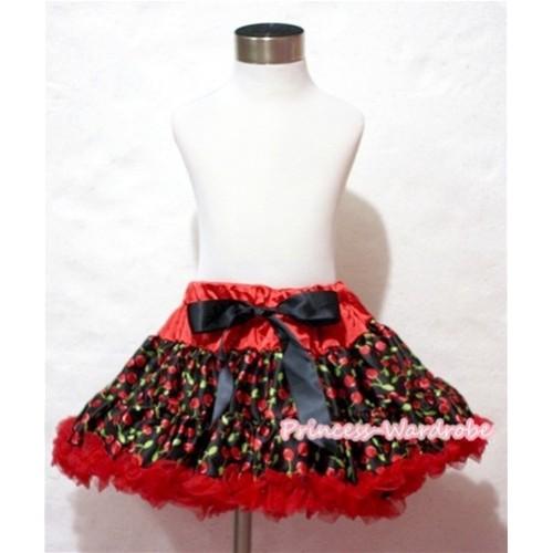 Hot Red Black Cherry Full Pettiskirt P137