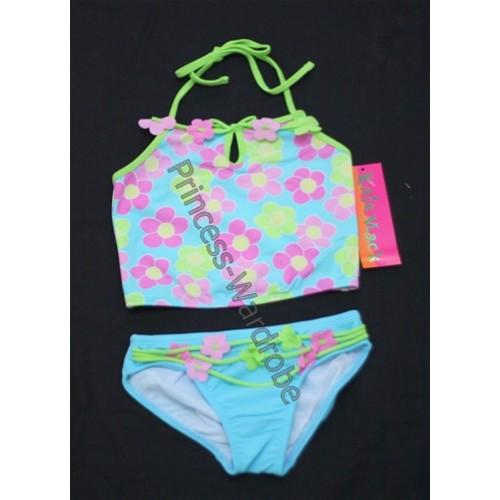 Light Blue with Flower Print Bikini SW27