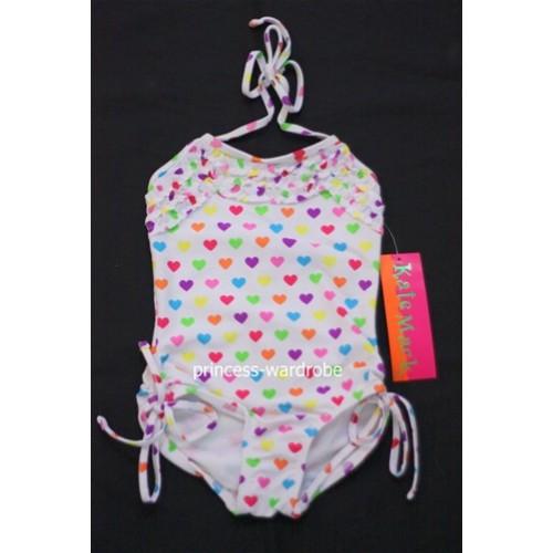 Rainbow Heart Sweety Onepiece Swimsuit SW37