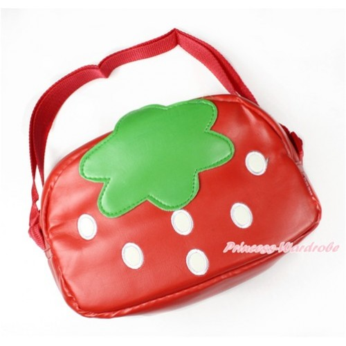 Strawberry Cute Kids School Zipper Cross Shoulder Bag CB118