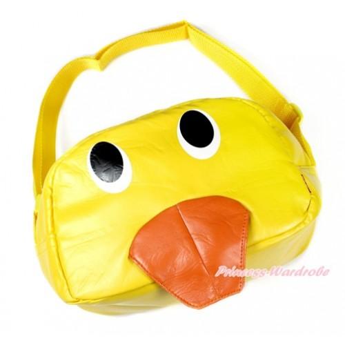 Yellow Duck Cute Kids School Zipper Cross Shoulder Bag CB121