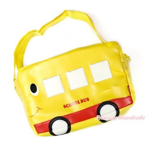 Yellow Bus Cute Kids School Zipper Cross Shoulder Bag CB122