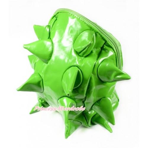 Bright Green Hedgehog Chic Kids Children Casual Backpack CB115