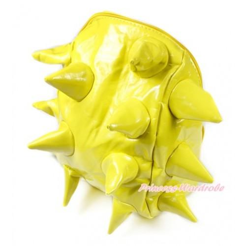 Yellow Hedgehog Chic Kids Children Casual Backpack CB117