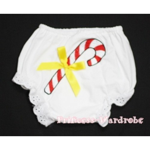 Christmas Stick with Yellow Bow Panties Bloomers BC82