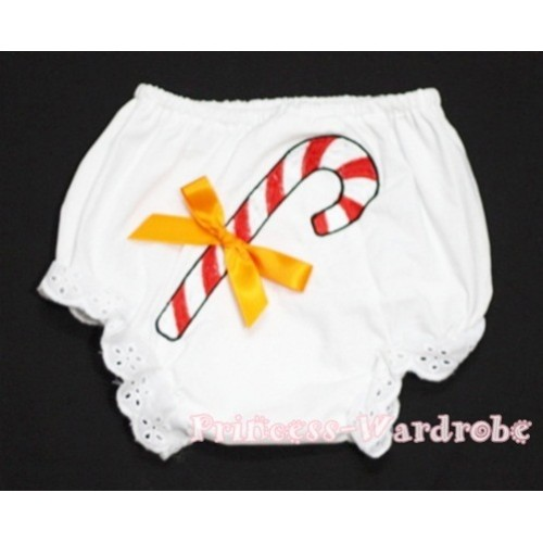 Christmas Stick with Orange Bow Panties Bloomers BC83