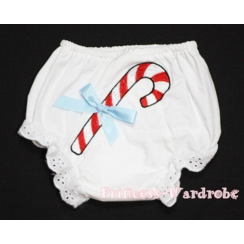 Christmas Stick with Light Blue Bow Panties Bloomers BC84