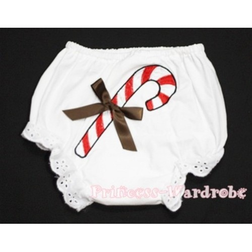 Christmas Stick with Brown Bow Panties Bloomers BC85