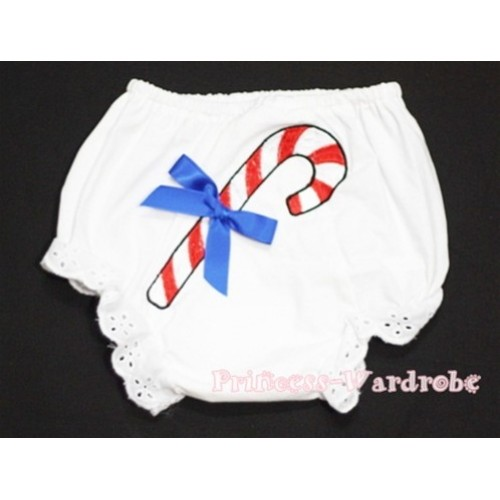 Christmas Stick with Royal Blue Bow Panties Bloomers BC86