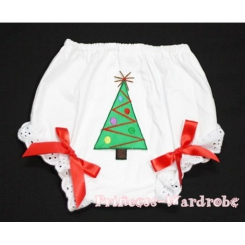 Christmas Tree Panties Bloomers with Red Bow BC88