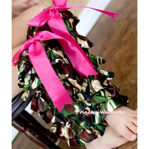 Camouflage Lace Leg Warmers Leggings with Various Ribbon LG136