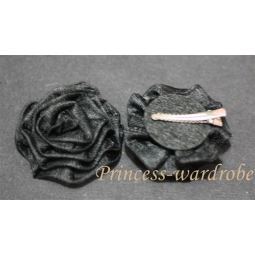 Black Rosettes Hair Pin H032