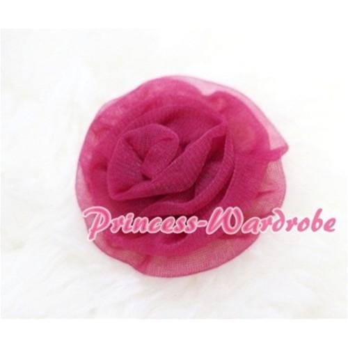 Raspberry Rosettes Hair Pin H044