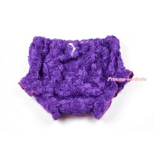 Dark Purple Romantic Rose Panties Bloomers BR35