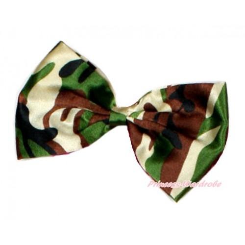 Camouflage Satin Bow Hair Clip H753