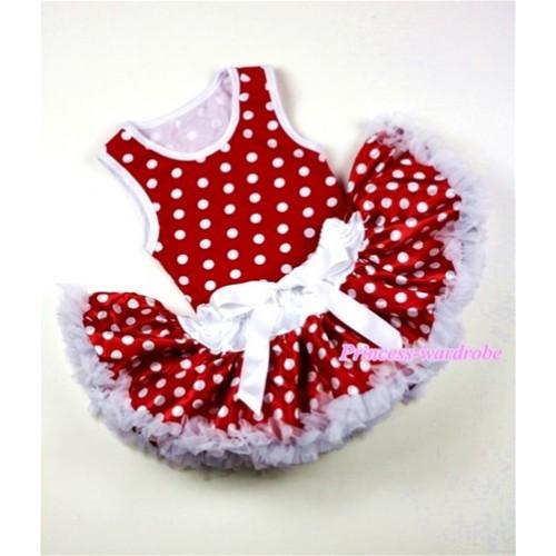 Minnie Newborn Pettitop with White Minnie Polka Dots Newborn Pettiskirt NG1006