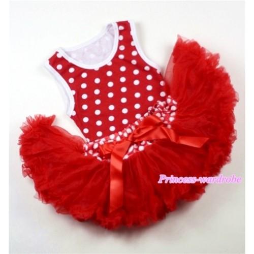 Minnie Newborn Pettitop with Minnie Waist Red Newborn Pettiskirt NG1008