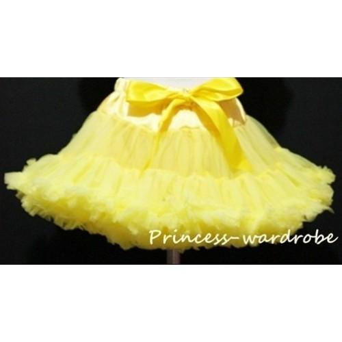 Yellow Adult Pettiskirt XXXL AP86