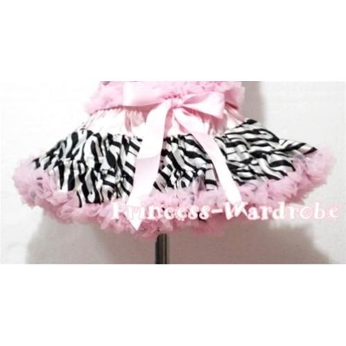 Light Pink Zebra Pettiskirt P56