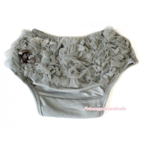 Grey Ruffles Pantie Bloomer B063
