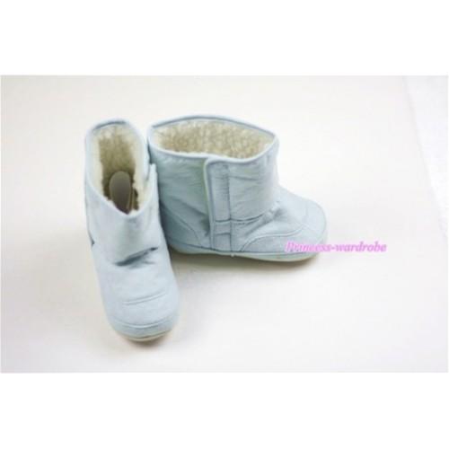 Light Blue Baby Crib Boots SB19
