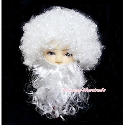 Xmas Party Santa Claus Wig & Beard 2PC Set Costume H755