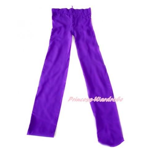 Plain Dark Purple Leggings Skinny Pants Tights LG244