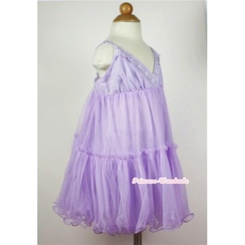 Lavender Chiffon Elegant Evening Wedding Party Bridesmaid Dress PD024