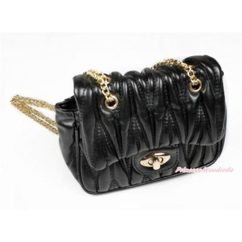Gold Chain Black Luxury Quilt Shoulder Bag CB138