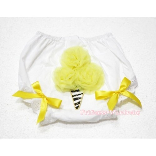 Yellow Zebra Ice Cream Panties Bloomers BD19