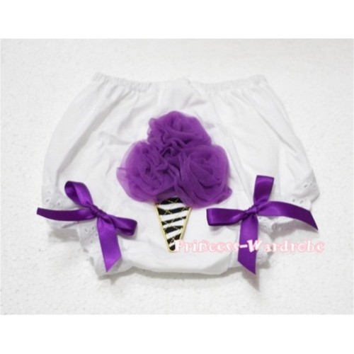 Dark Purple Zebra Ice Cream Panties Bloomers BD24