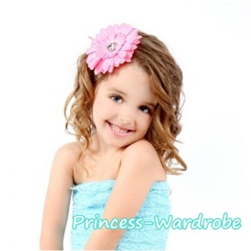 Light Pink Crystal Daisy Hair Pin H102