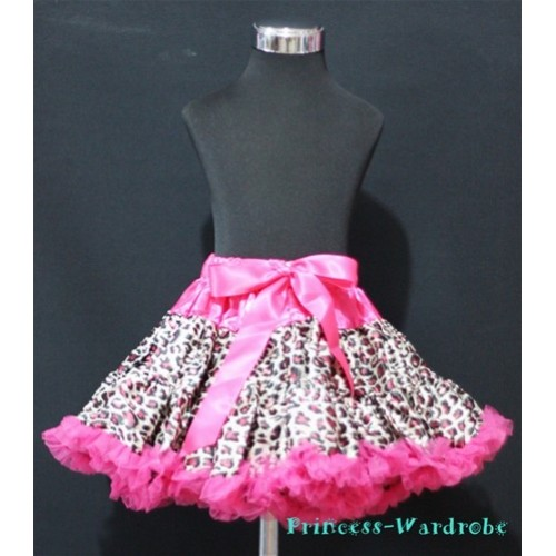 Hot Pink Leopard Teen Full Pettiskirt XXL AP27