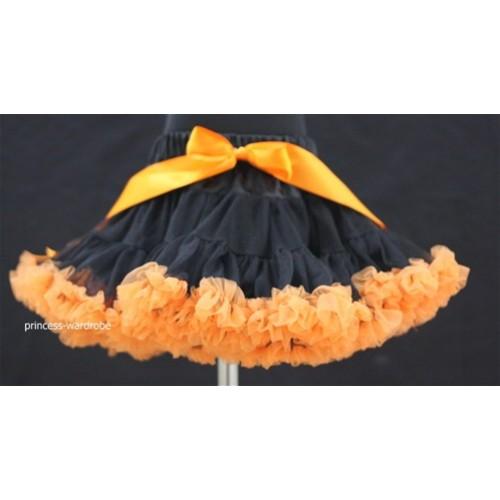 Black Orange Teen Full Pettiskirt XXL AP30